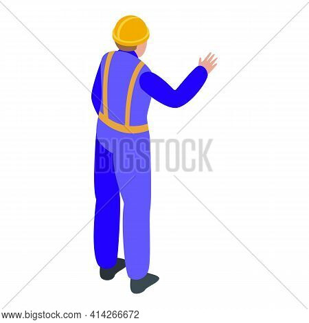 Road Worker Icon. Isometric Of Road Worker Vector Icon For Web Design Isolated On White Background