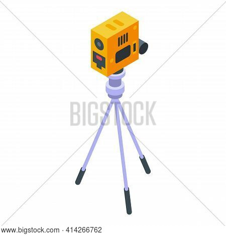 Road Tripod Icon. Isometric Of Road Tripod Vector Icon For Web Design Isolated On White Background