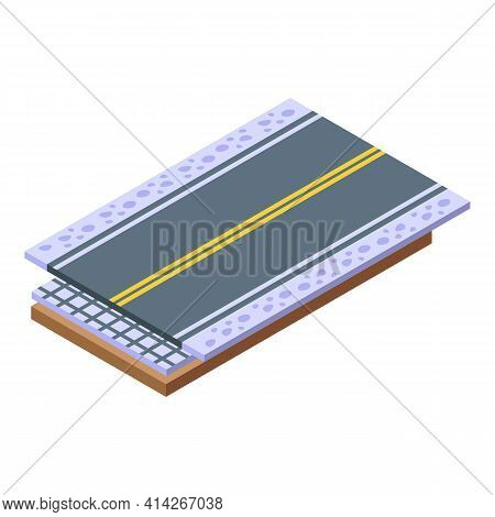 Highway Construction Icon. Isometric Of Highway Construction Vector Icon For Web Design Isolated On