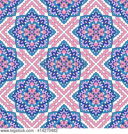 Arabic Arabesque Design For Ramadan Kareem Pattern. Outline Hand Drawn Illustration Of Arabic Arabes