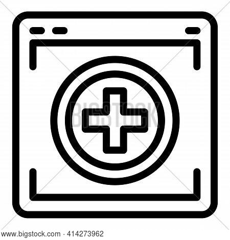 Medical Webpage Icon. Outline Medical Webpage Vector Icon For Web Design Isolated On White Backgroun