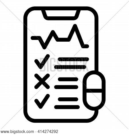 Medical Referral Icon. Outline Medical Referral Vector Icon For Web Design Isolated On White Backgro