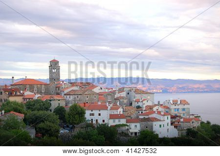 Village Brsec on Istria peninsula in Croatia poster