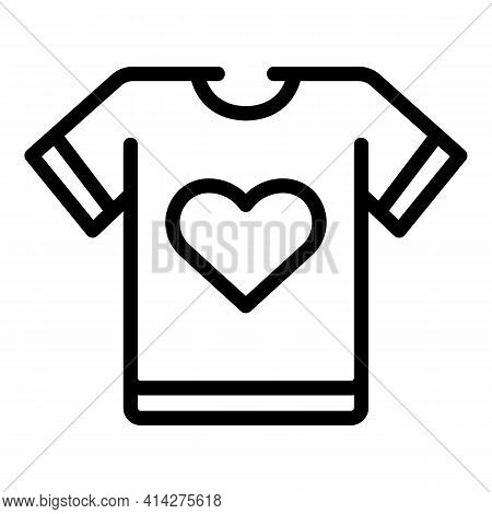 Shirt Charity Icon. Outline Shirt Charity Vector Icon For Web Design Isolated On White Background