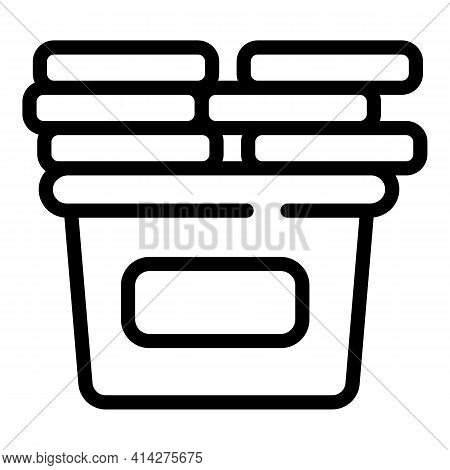 Raise Clothes Donation Icon. Outline Raise Clothes Donation Vector Icon For Web Design Isolated On W