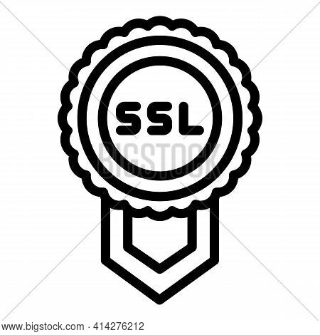 Ssl Confirmation Icon. Outline Ssl Confirmation Vector Icon For Web Design Isolated On White Backgro