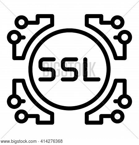 Ssl System Icon. Outline Ssl System Vector Icon For Web Design Isolated On White Background