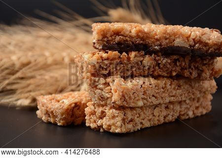 Various Healthy Granola Bars (muesli Or Cereal Bars). Set Of Energy, Sport, Breakfast And Protein Ba