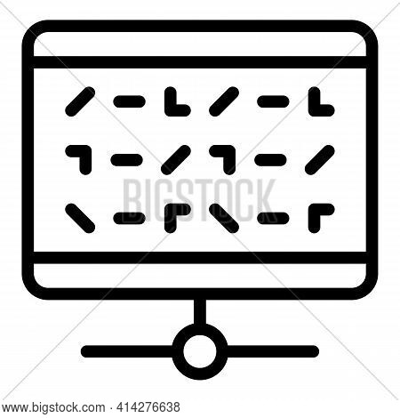 Cipher Encryption Icon. Outline Cipher Encryption Vector Icon For Web Design Isolated On White Backg