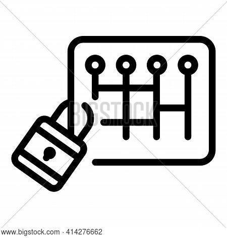 Cipher Lock Icon. Outline Cipher Lock Vector Icon For Web Design Isolated On White Background