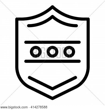 Shield Login Icon. Outline Shield Login Vector Icon For Web Design Isolated On White Background