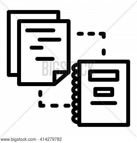 Organized Documents Icon. Outline Organized Documents Vector Icon For Web Design Isolated On White B
