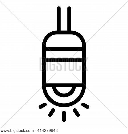 Endoscope Light Icon. Outline Endoscope Light Vector Icon For Web Design Isolated On White Backgroun