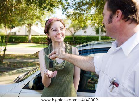 Receiving Car Keys