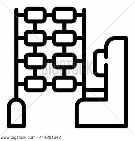 Textile Mill Icon. Outline Textile Mill Vector Icon For Web Design Isolated On White Background