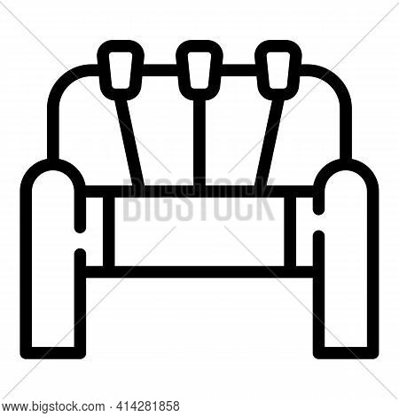 Loom Machinery Icon. Outline Loom Machinery Vector Icon For Web Design Isolated On White Background