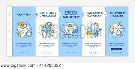 Family Medicine Components Onboarding Vector Template. Responsive Mobile Website With Icons. Web Pag