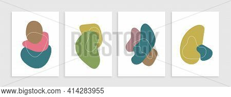 Abstract Blotch Shape. Liquid Shape Elements. Fluid Dynamical Colored Forms Banner. Gradient Abstrac