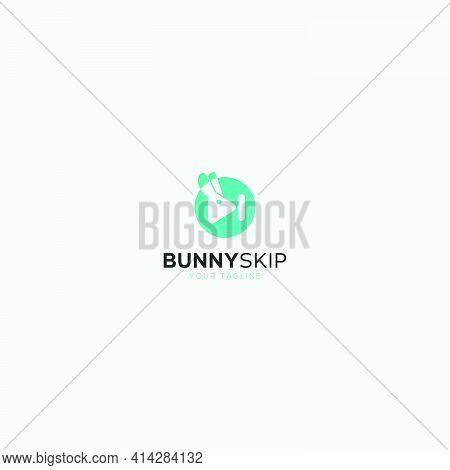 Bunny Skip Media Logo Design Vector Play