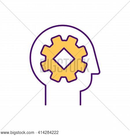 Analytical Thinking Rgb Color Icon. Problem Solving. Critical Mind. Brainstorming Ability. Soft Skil