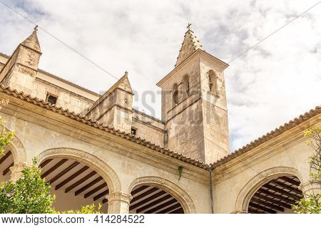Interior Of The Cloister And Tower Of Sant Vicenç Ferrer Church, Historic Building That Houses The M