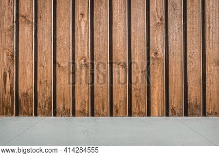 Brown Wooden Fence Texture, Natural Wood Background.