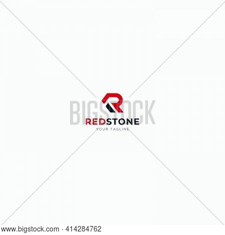 Simple R Letter Initial Logo Simple Red Stone Home Abstract