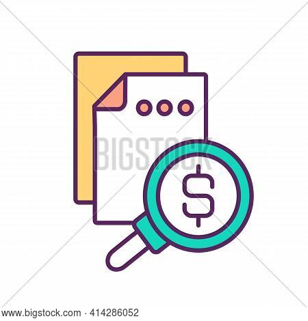 Trading Securities Rgb Color Icon. Stocks And Bonds. Purchasing Ownership. Money Market. Buying And