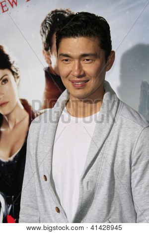 LOS ANGELES - JAN 24:  Rick Yune arrives at the the 'Hansel And Gretel: Witch Hunters' premiere at the Chinese Theat theer on January 24, 2013 in Los Angeles, CA
