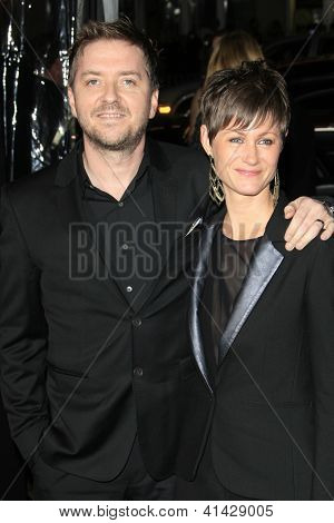 LOS ANGELES - JAN 24:  Atli Orvarsson, wife Anna arrive at the the 'Hansel And Gretel: Witch Hunters' premiere at the Chinese Theat theer on January 24, 2013 in Los Angeles, CA