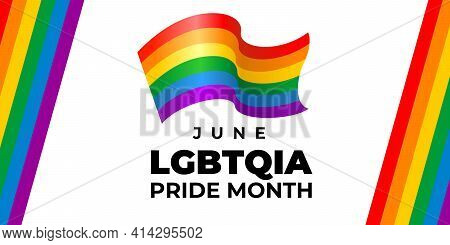 Lgbt, Lgbtqia Pride Month. Vector Banner, Poster For Social Networks, Media. Concept With The Lgbt R