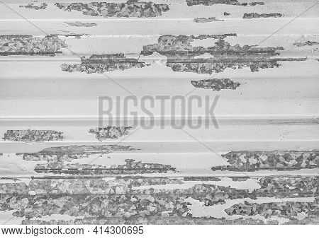Silver Color Metal Fence, Peeled Gray Galvanized Iron, Texture Abstract Background Wallpaper.