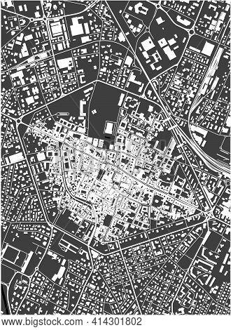 Map Of The City Of Reggio Nell Emilia, Italy
