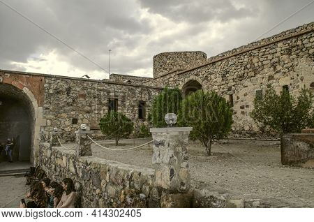 Khor Virap, Armenia, 27 April, 2019:the Courtyard Of The Medieval Fortress Of Khor Virap Is Surround