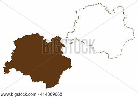 Dachau District (federal Republic Of Germany, Rural District Upper Bavaria, Free State Of Bavaria) M