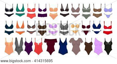 Underwear Cartoon Set Icon.vector Illustration Illustration Lingerie On White Background .cartoon Ve