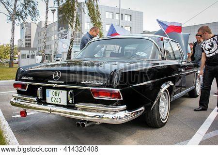 Kiev, Ukraine - June 2, 2012: Old Mercedes-benz 280 Se Automatic In The City. Retro Mercedes Car