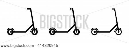 Electric Scooter Icon. Vector Illustration. Eco Transport For City Lifestyle. Flat Design
