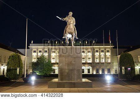 Warsaw, Poland - June 18, 2016: Presidential Palace (palac Prezydencki) In Warsaw, Poland. Warsaw Is