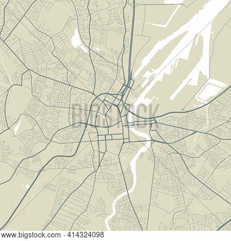 Vector Map Of Belfast, Northern Ireland, Uk, State Of Northern Ireland, Uk. Street Map Poster Illust