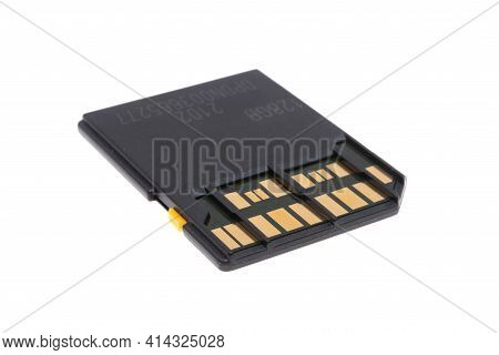 Device Memory Card Isolated On White Background