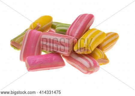 Confection Caramel Candy Isolated On White Background