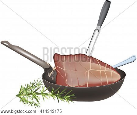Pan With Roast Beef Pan With Roast Beef