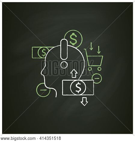Mindful Spending Chalk Icon.thoughtful Shopping.necessary Purchases.profitable Investment. Thoughtfu