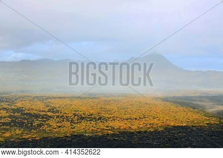 Volcanic landscape near Myvatn Lake, Iceland, Europe