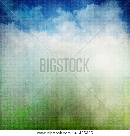 abstract nature background with nature colors and bokeh lights poster
