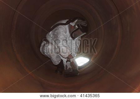 industrial boiler clean inside the furnance