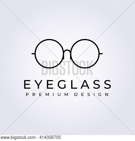 Eye Glass, Spectacles Logo Vector Illustration Design Graphic