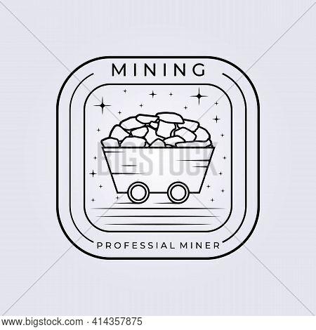 Mining Hardware Train Logo Vector Illustration Design