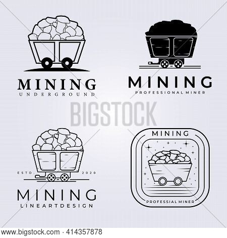 Mining Collection Hardware Logo Vector Illustration Design